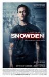 「Snowden」の英語のポスターの写真